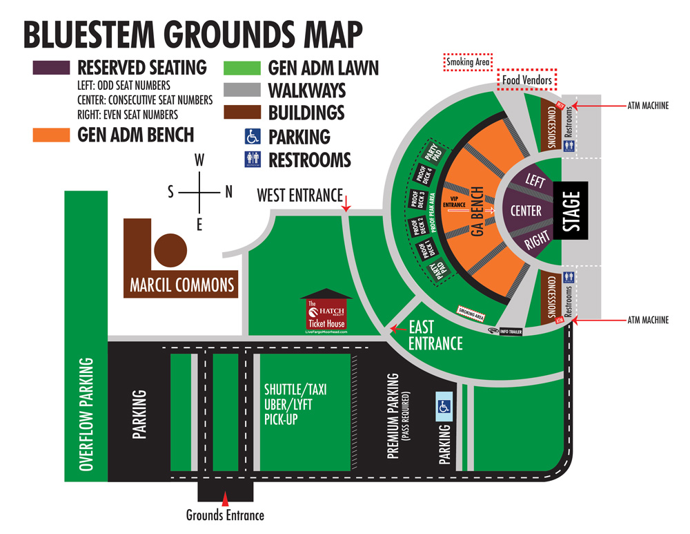mapped out bluestem amphitheater